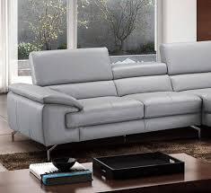 j m furniture sku18275 r j m olivia modern grey premium italian leather sectional sofa right