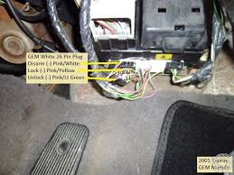 2000 2003 ford taurus remote start w keyless pictorial for alarm system installs the four door trigger wires are also found in the same white 26 pin plug