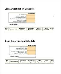 Loan Amortization Schedule Template Lease With Residual Value ...