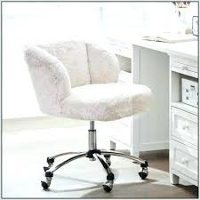 fur office chair white desk chairs home decorating ideas hash intended for fur office chair white