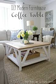 How To Build A DIY Modern Farmhouse Coffee Table | Classic Square Coffee  Table With Painted · Rustic Modern Living RoomModern ...