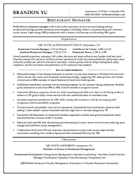 Restaurant Managertess Sample Resume Example Resumes Skillst