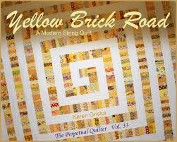 Yellow Brick Road Quilt Pattern Fascinating Yellow Brick Road Quilt Pattern Modern Quilt Pattern String Etsy