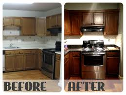 Refurbish Kitchen Cabinets Before And After Restaining Kitchen Cabinets Ask Home Design