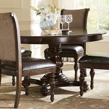 leather chair pads image heavenly dining room decoration using single pedestal dining table gorgeous image of small dining room