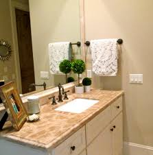 bathroom, Impressive Top Vanity Pattern And White Sink Under Tiny Faucet  Size Near Good Bathroom