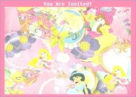 Invitations Card Maker Disney Princess Birthday Invitations Invitation Card Maker Free