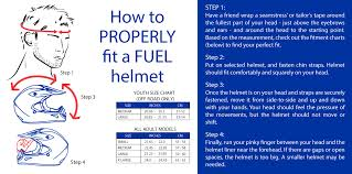 Motorcycle Helmet Measurement Chart Fuel Size Chart