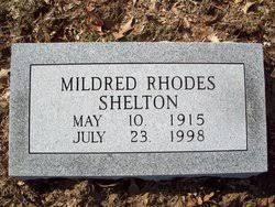 Mildred L Rhodes Shelton (1915-1998) - Find A Grave Memorial