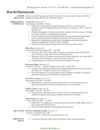 Complex Assistant Store Manager Resume Objective Resume Retail