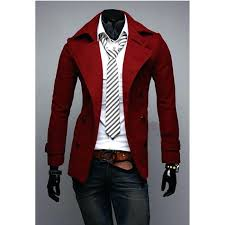 mens red wool coat double ted slim fit wool coat 5 colors clothing mens wool coats mens red wool coat