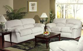 Overstuffed Living Room Furniture Enchanting Living Room Decorating Ideas With Beautiful White
