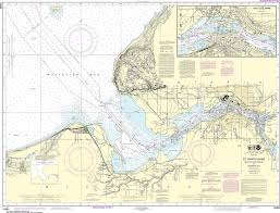 Noaa Nautical Chart 14884 St Marys River Head Of Lake Nicolet To Whitefish Bay Sault Ste Marie