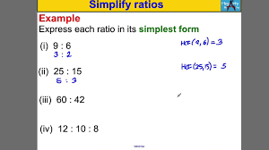 ratios in fraction form simplify ratios youtube