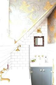 bathroom wallpaper ideas wallpaper for bathroom ideas a grey and white bathroom with gold detailing and bathroom wallpaper