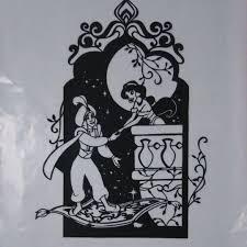 ディズニー アラジンアラジンジャスミンたて型切り絵 555 メルカリ スマホでかんたん