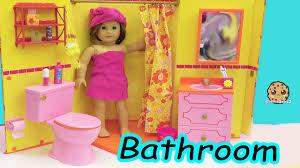 American Girl Doll Room - Shower, Brush Teeth, Surprise Blind Bags ...