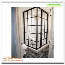 aluminum half glass door design screen door panel sliding