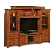 Wall furniture for living room Luxury Media Media Wall Units The Spruce Mission Style Living Room Furniture Mission Motif