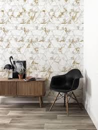 Behang Marble Mosaic Goud 974 X 280 Cm Kek Amsterdam