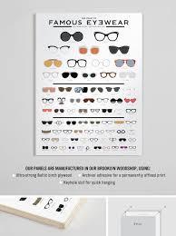Chart Of Famous Eyewear The Chart Of Famous Eyewear Sunglasses Chart Eye