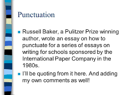 grammar points dr m connor ppt  19 punctuation russell baker