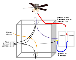 ceiling fan light on dimmer switch fan on normal switch wiring ceiling light dimmer switch