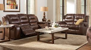 image of new leather living room furniture