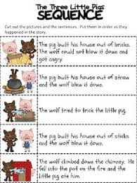 3 little pigs story kit with sequencing prehension more free from grade fantabulous super sunday