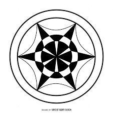 Abstract wheel crop circle design Vector