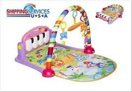 Image is loading Newborn-to-Toddler-Mirror-Piano-Foot-Stages-Baby- Newborn-to-Toddler Mirror Piano Foot Stages Baby Play Gym Animals