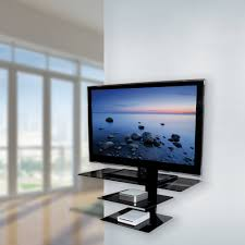 ... Glass Tv Shelves Wall Mount Triple Black Tempered Glass Shelf With  Metal Stand Inspirational Additional Garage ...