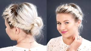 Double Braid Messy Low Bun For Thin Hair