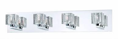 Hampton Bay Vanity Lighting 60 Watt Dimmable Cube Glass Shades Chrome 4  Light