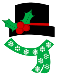 Template Of A Snowman Christmas Photo Props Frosty The Snowman Hat Scarf Label