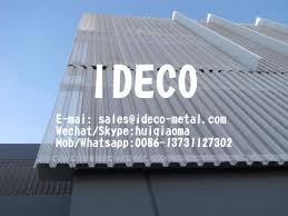 corrugated perforated metal sheet panels for architectural sun shading screen images