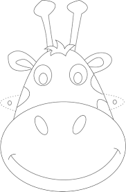 Giraffe Mask Printable Coloring Page For