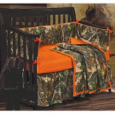 baby oak camo crib bedding set camouflage with orange comforter decorations 14