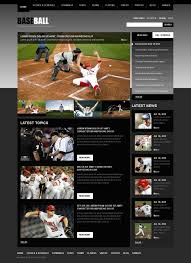Baseball Websites Templates Baseball Psd Template Design Ideas Pinterest Templates Psd