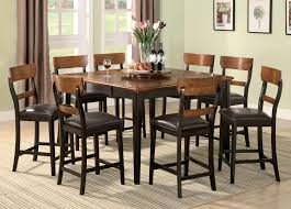 elegant square black mahogany dining table: counter height table collectionsfcoasterffranklin    kbr b
