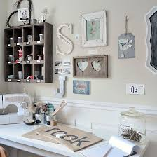 home office craft room ideas. Craft Room With Country Charm And Wall Decorations Home Office Ideas