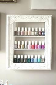 diy nail polish rack nail polish rack beautiful white shabby chic frame custom sized by nail diy nail polish rack