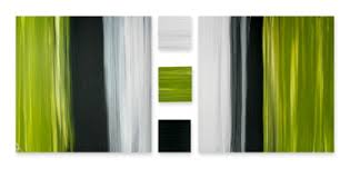 >lime and black art canvas pictures wall art paintings  stripes of lime grey and black