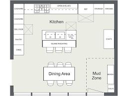 Kitchen Layout Ideas Kitchen floor plan with island and appliance