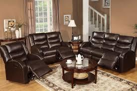 Motion Living Room Furniture Rouen Bonded Leather Recliner Motion Living Room Set F6654 55 56