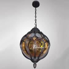 iron art and handcraft glass ball pendant lighting 8285