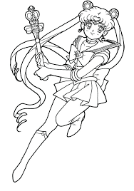 Unusual Idea Sailor Moon Coloring Page Pages Anime Chibi Of Free