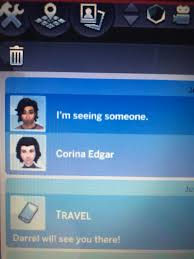 """I really want my sim to date a guy named Darrel Charm, but even thought  they're best friends, he only responds with """"I'm seeing someone."""" and I  have asked him about 10"""
