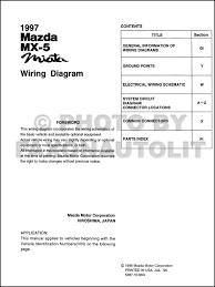1997 miata wiring diagram 1997 image wiring diagram 1997 mazda mx 5 miata wiring diagram manual original on 1997 miata wiring diagram