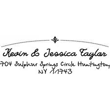 Handwritten Cursive Custom Address Stamp Self Inking Personalized Rubber Stamp With Return Address